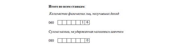 Пример заполнения строки 060