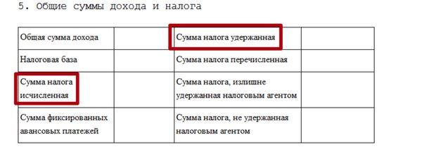 Изображение - Сумма налога перечисленная в справке 2-ндфл что ставить v-spravke-2-ndfl-summa-naloga-ischislennaya-i-uderzhannaya-3